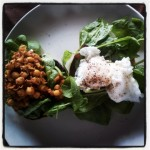 Recovery Breakfast – Poached Egg & Curried Chick Peas