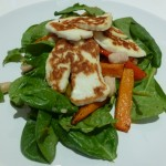 Cannellini Bean & Roast Carrot Salad with Halloumi