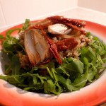 Roasted Shallot, Quinoa and Sun-dried Tomato Salad