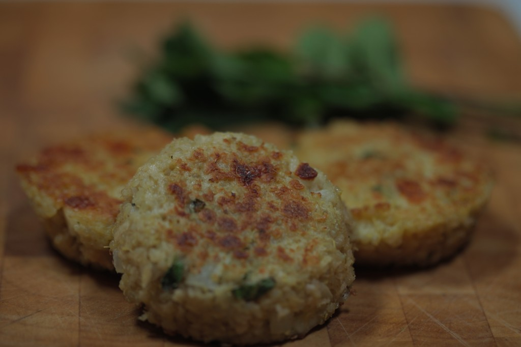 Quinoa and Halloumi Patties