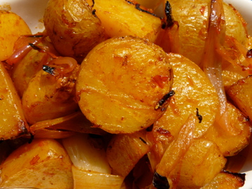 harissa roasted potatoes