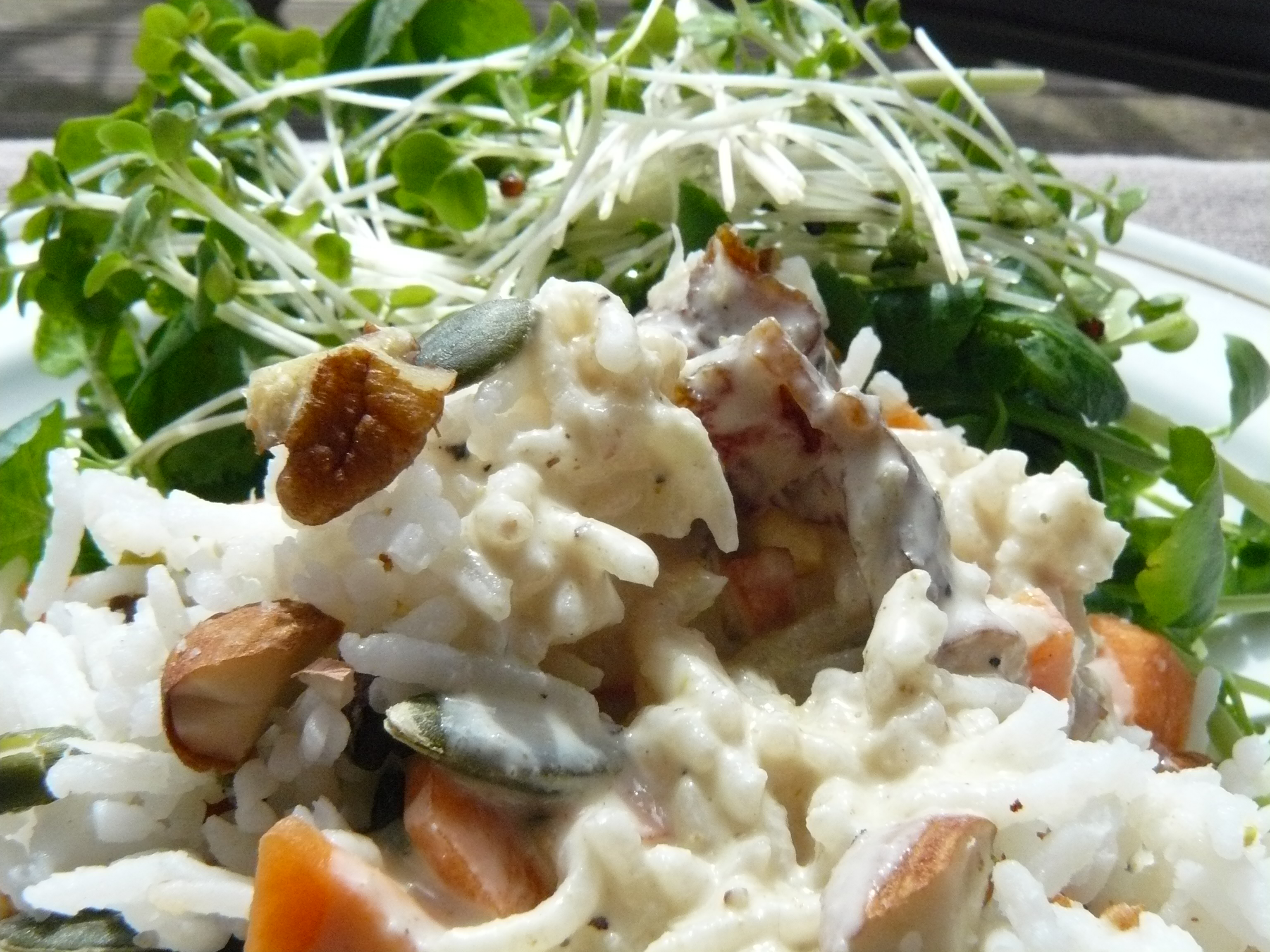 Rice, Nut and Seed Salad with Tahini Dressing