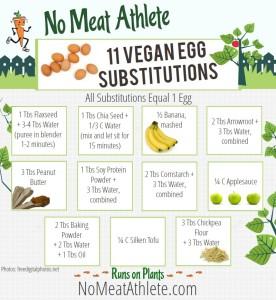 vegan egg substitute infographic