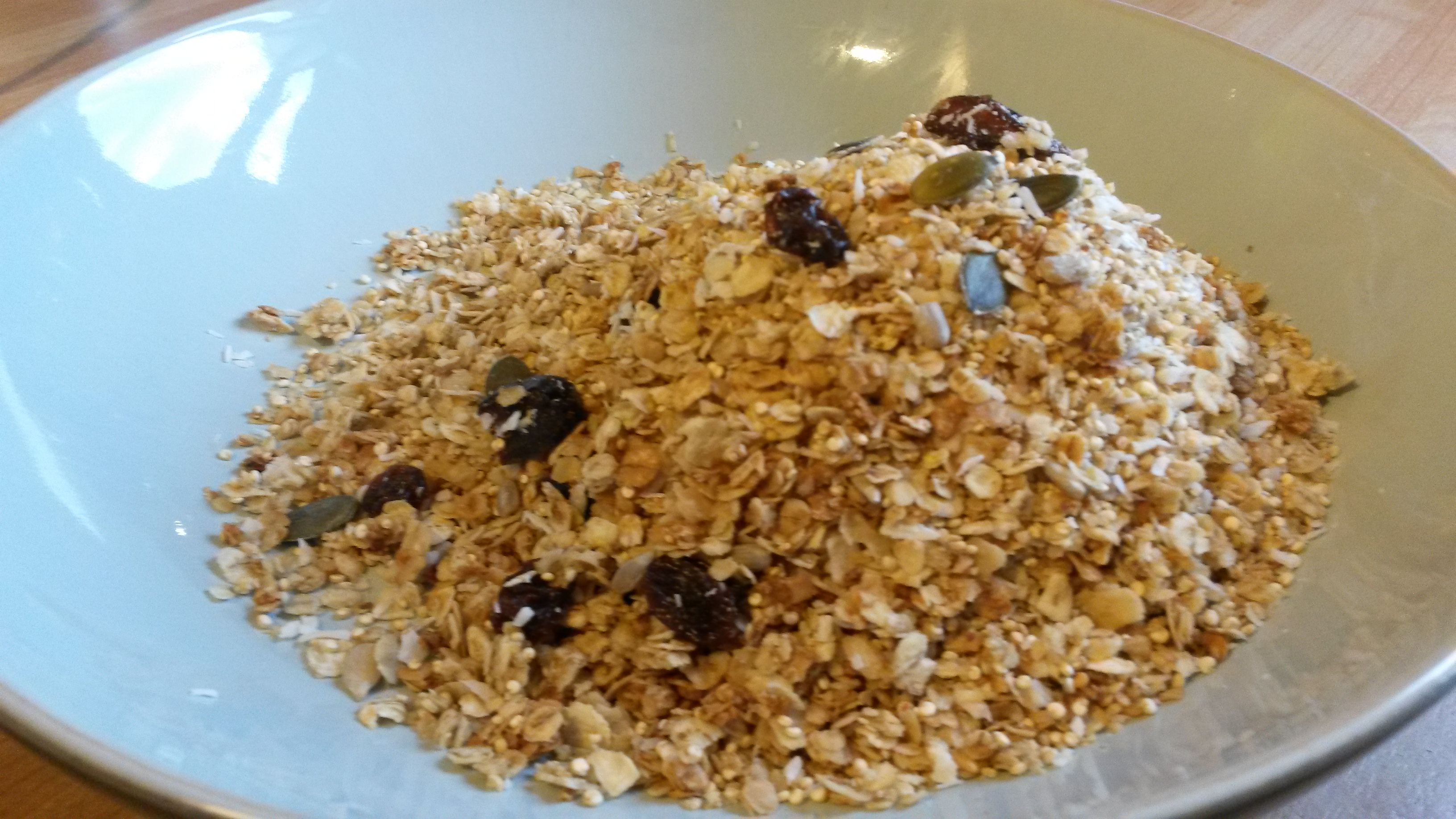Ginger Granola with Quinoa Crunchies