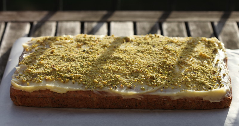 Vegan Rosewater and Pistachio Cake