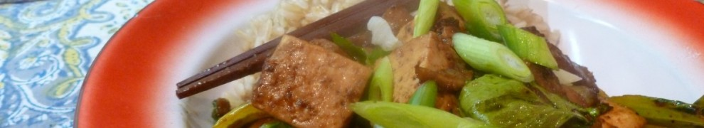 Szechuan Tofu with Mushrooms and Baby Bok Choi, tofu recipes, bok choi recipes, vegan recipes, vegetarian recipes, chinese vegan recipes, chinese vegetarian recipes