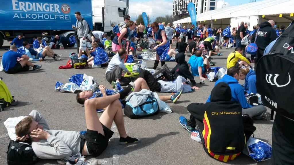 Manchester Marathon race village