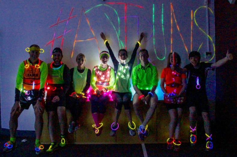 veggie runners space2 light night art runs 2015