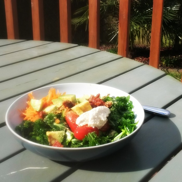 Chunky Salad in the Garden