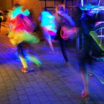 light night art runs, veggie runners, glowing runners