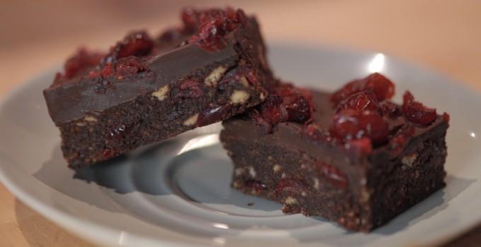 Vegan Cranberry Tiffin