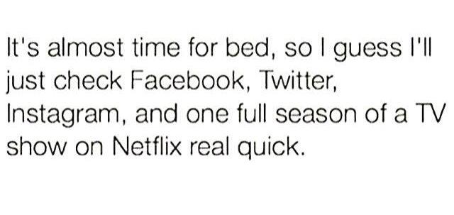 Bedtime routine, pre-digital detox