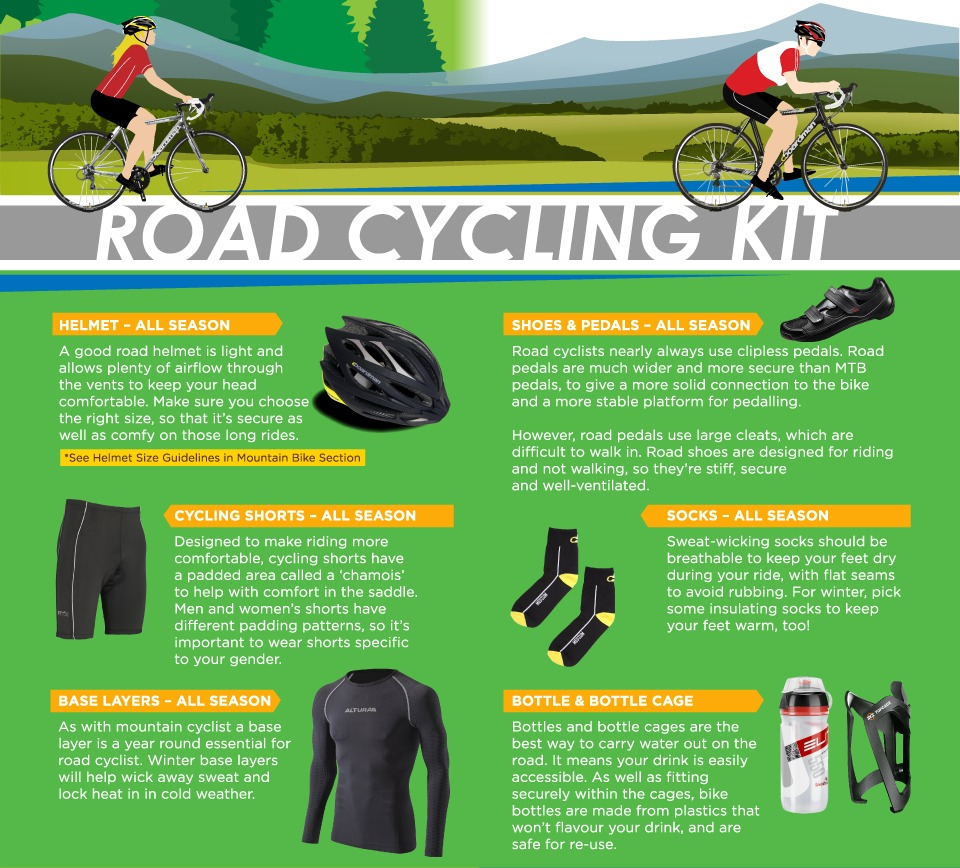 road cycling kit