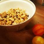 Hot Cross Bun Caramel Popcorn
