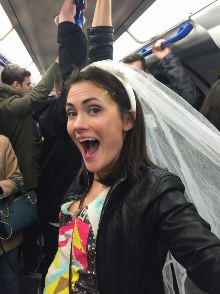 Healthy Hen Do - Bibi on the tube