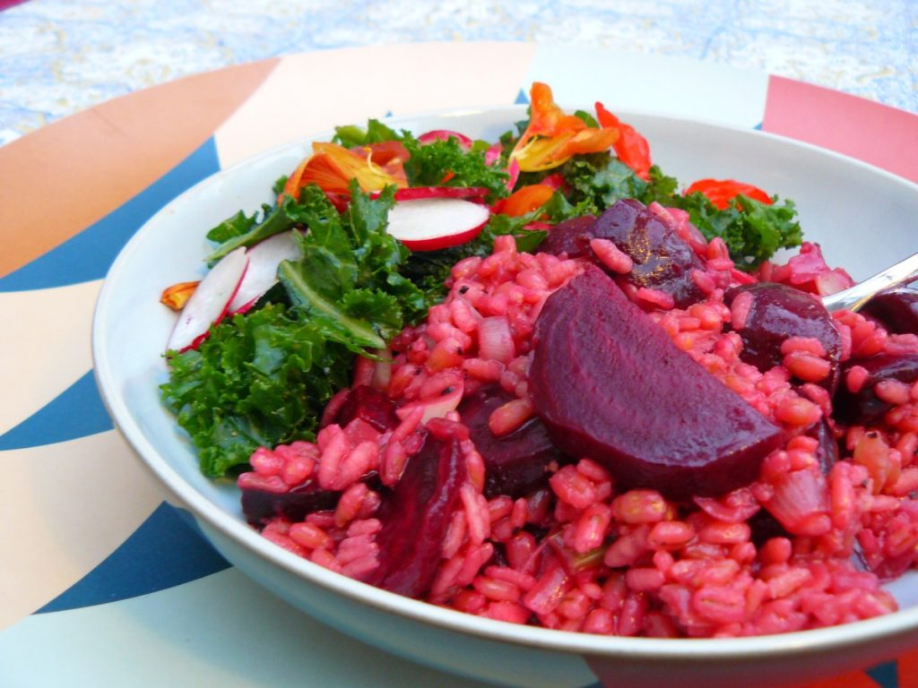 Beetroot Barlotto - Risotto with Pearl Barley and Rice
