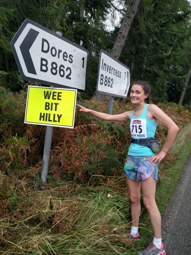 Wee bit Hilly at Mile 18 of Loch Ness Marathon