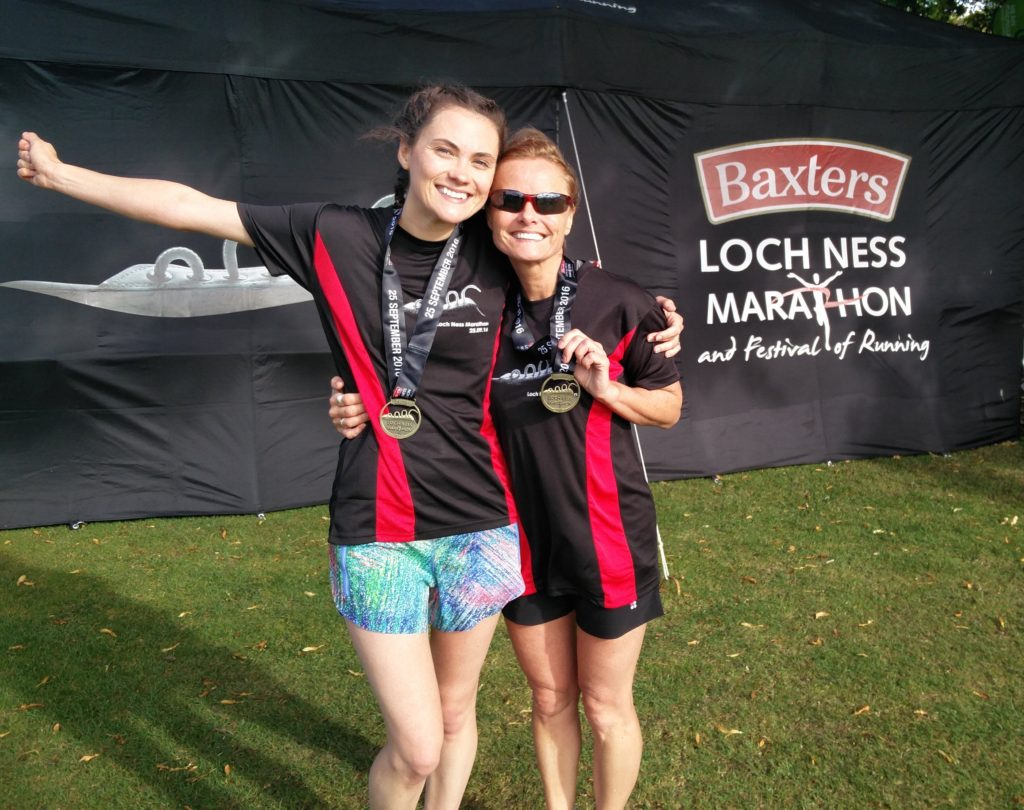 Finish of Loch Ness Marathon