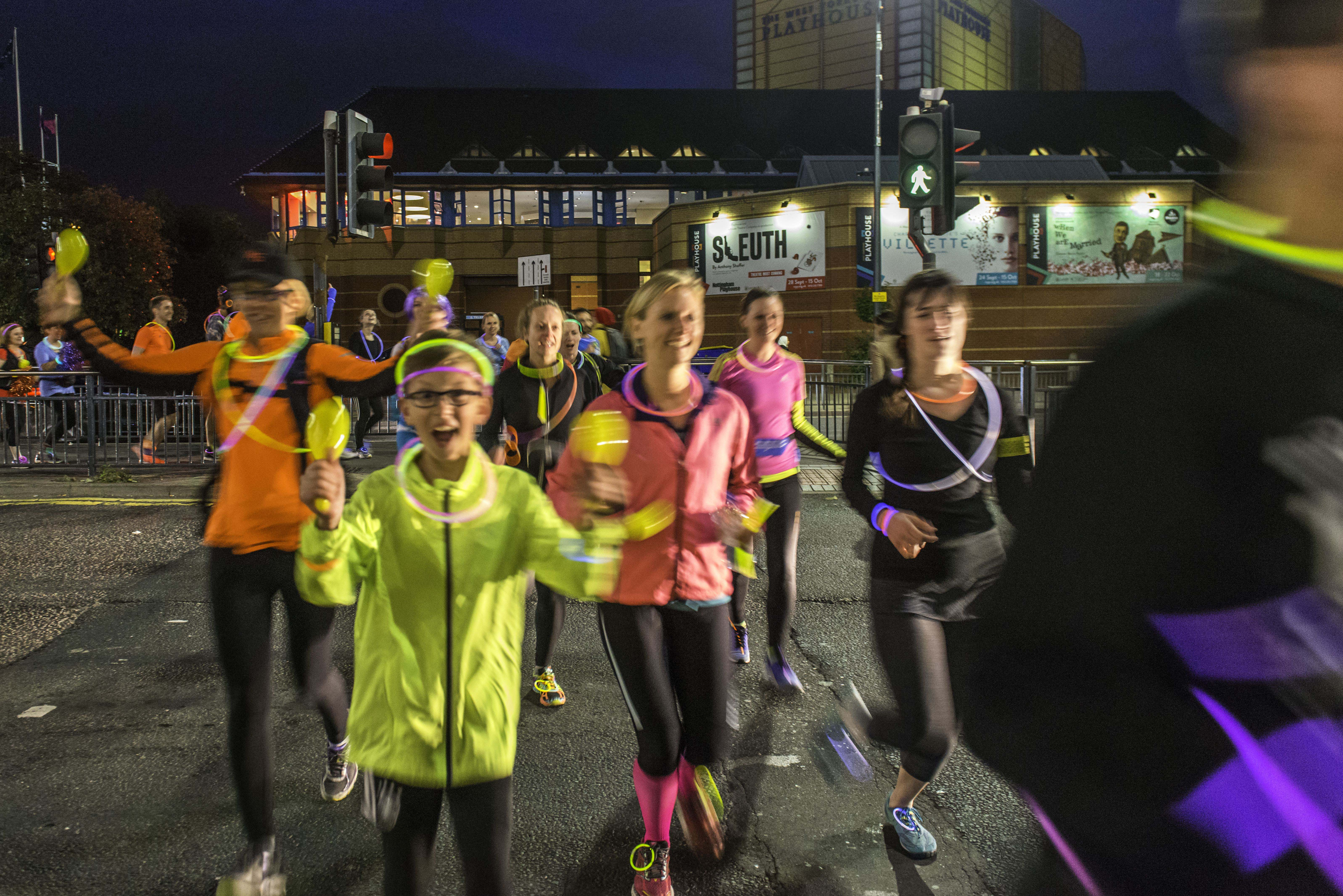 light night leeds art runs, veggie runners art runs, light night runs