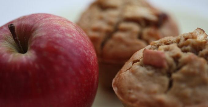 Vegan Tahini and Apple Muffins