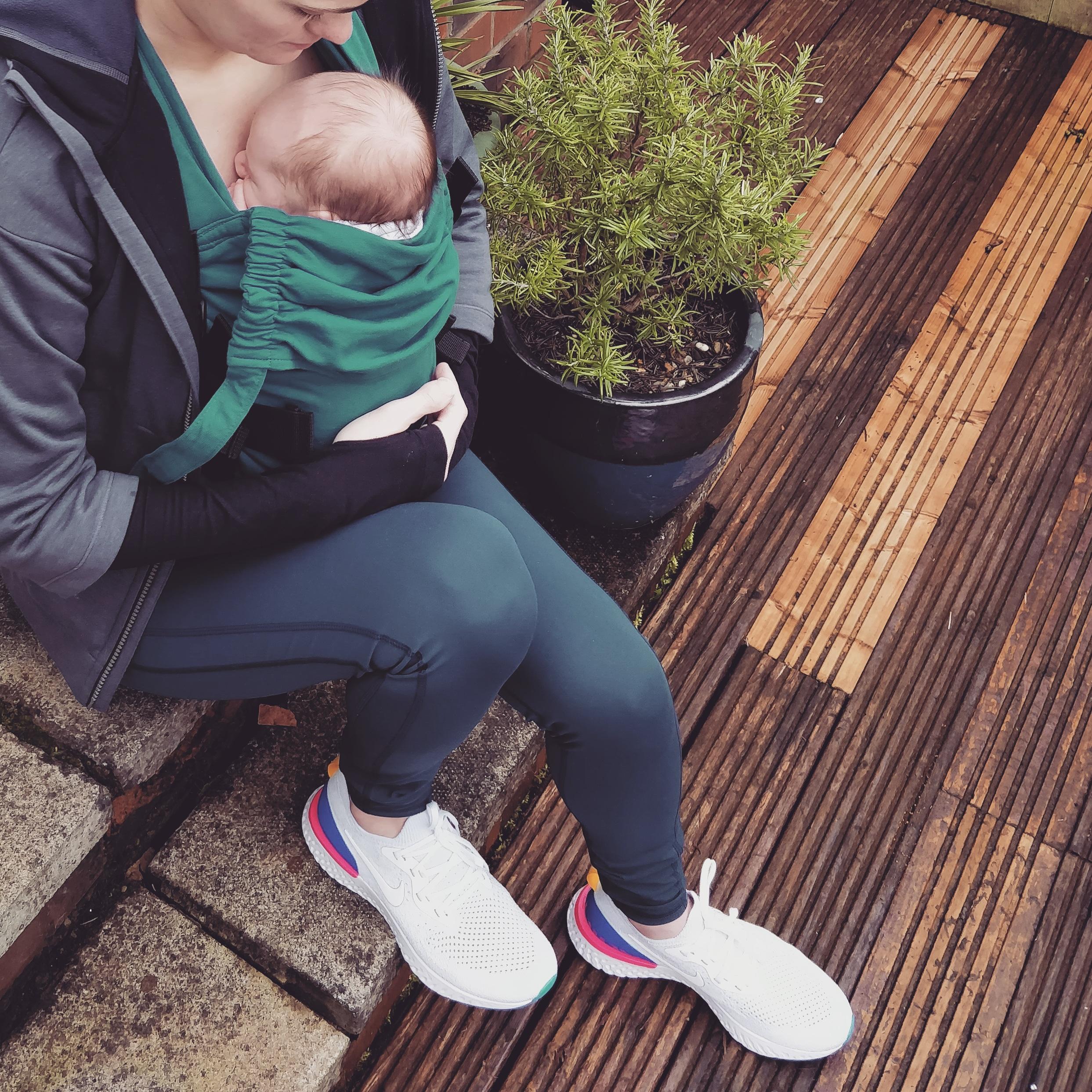 veggie runners nike epic react, nike epic react, veggie runners baby, pregnant fitness, postnatal fitness, postnatal running